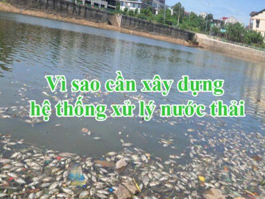 Vì sao cần xây dựng hệ thống xử lý nước thải